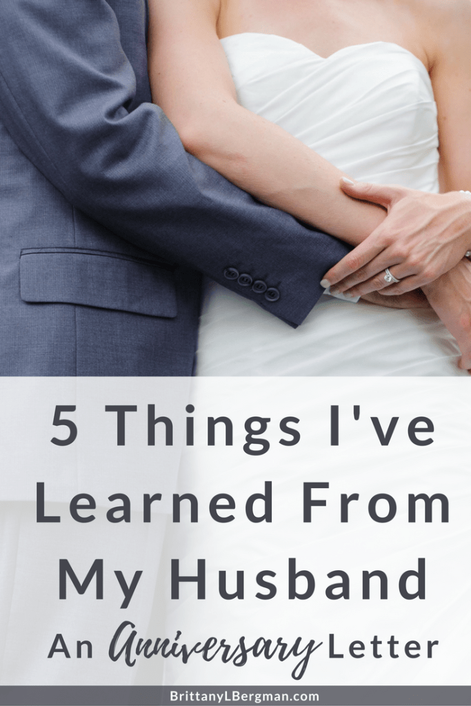 There's so much we can learn from marriage and from our spouses, no matter how long we've been married. I've learned these 5 things from my husband in just two years together, and I'm so grateful for the many more things he has taught me.