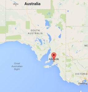Map Australia. Adelaide, SA