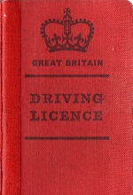 UK red driving licence