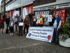 Campaigners oppose the closure of Clapham Fire Station