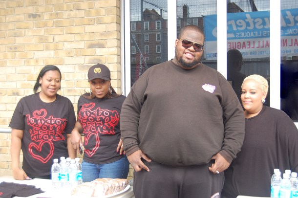 Brixton Soup Kitchen founder Solomon Smith (second from the right) with his colleagues.