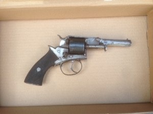 The firearm found during the weapons sweep