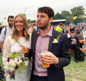Newlyweds Lauren and Denis at Lambeth Country Show