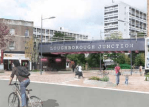 An artists impression of proposed changes to Loughborough Junction