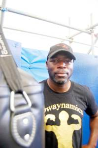 Richard Davis, a director at Dwaynamics and a coach at Miguel's Boxing Gym