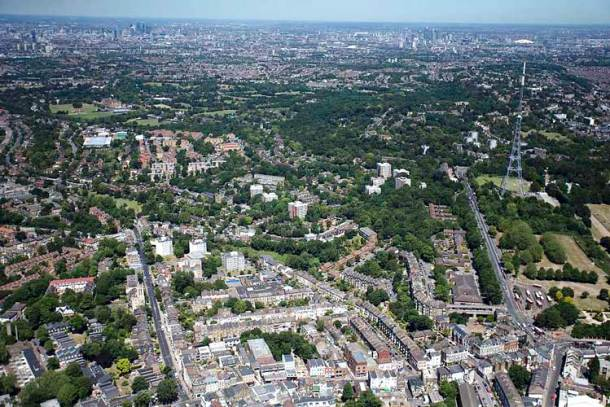 South London from the air