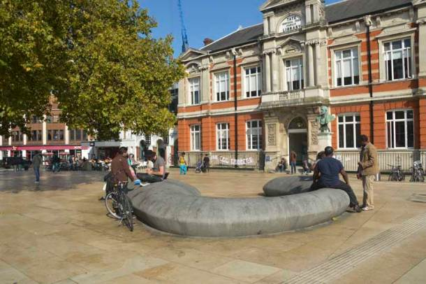 Windrush Square by day