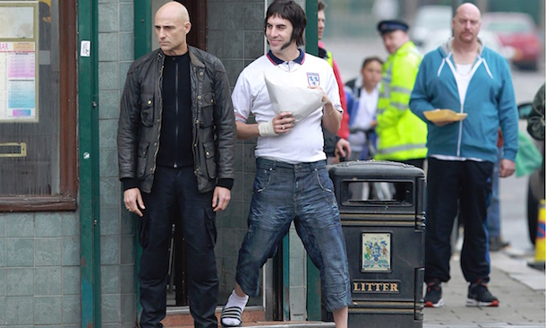Mark Strong & Sacha Baron Cohen in Grimsby. Courtesy of Columbia Pictures