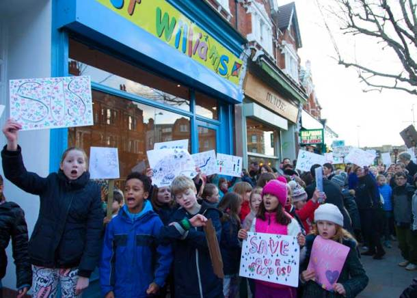 Just Williams protest Herne Hill