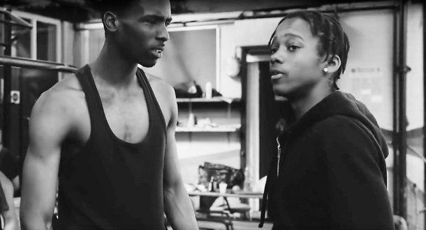 Raekwon Warren (left) as Jazz and Remael Walker as Jonathan in Ringing