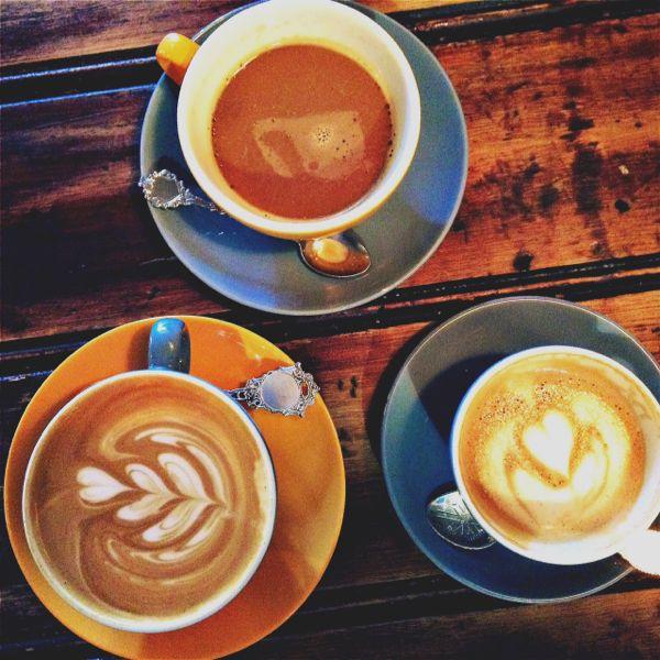 Latte, Americano, Flat White