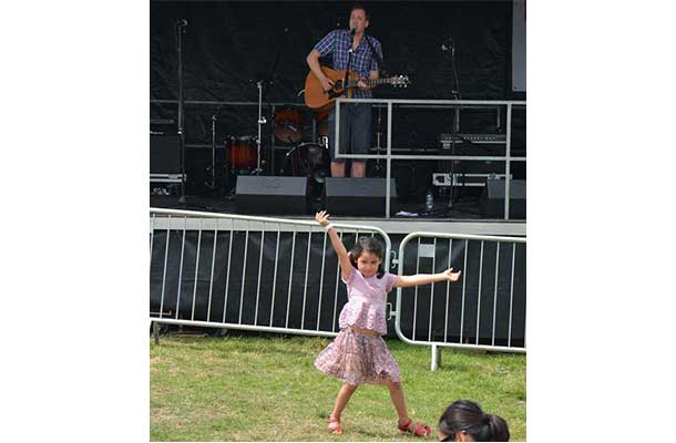 Dancing to Andy Marr on the Village Green