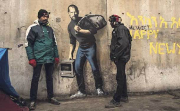 Banksy graffiti of Steve Jobs in Calais