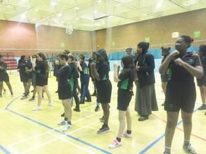 Girls practice non contact boxing at Brixton Rec
