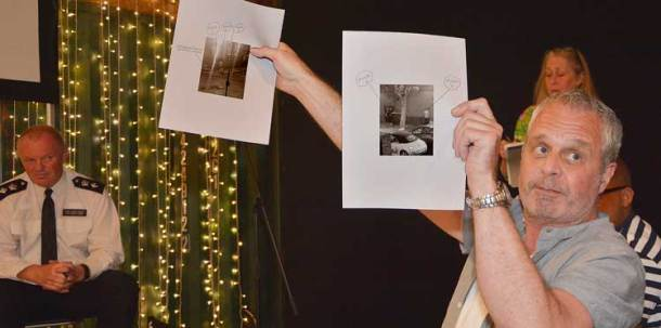 §Rob Goacher displays photographs of people pissing outside his home