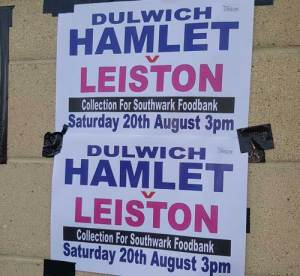Dulwich Hamlet Southwark food bank appeal poster