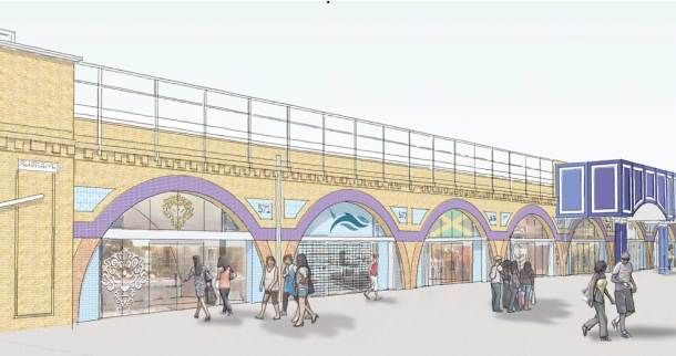 Drawings from Network Rail's planning application appear to show a pedestrianised Atlantic Road
