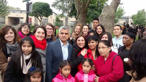 Support from London mayor Sadiq Khan