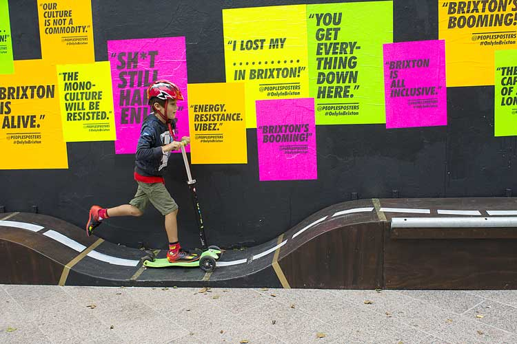 Brixton Street Gallery: Squire & Partners with The Peoples Posters picture: luke forsythe