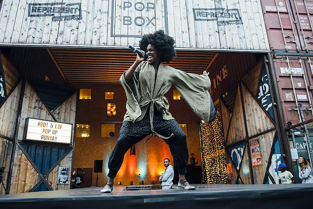 Fashion Unboxed on the pop-up runway at Pop Brixton