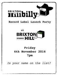 Flyer for Brixton Hill Studios