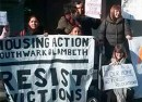 Housing Action Southwark and Lambeth protesters