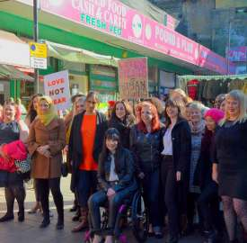 Imelda May and music video cast in Brixton Market