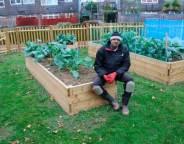 Community gardener Simon Ghartey