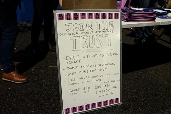Community comes out in force to support Dulwich Hamlet as