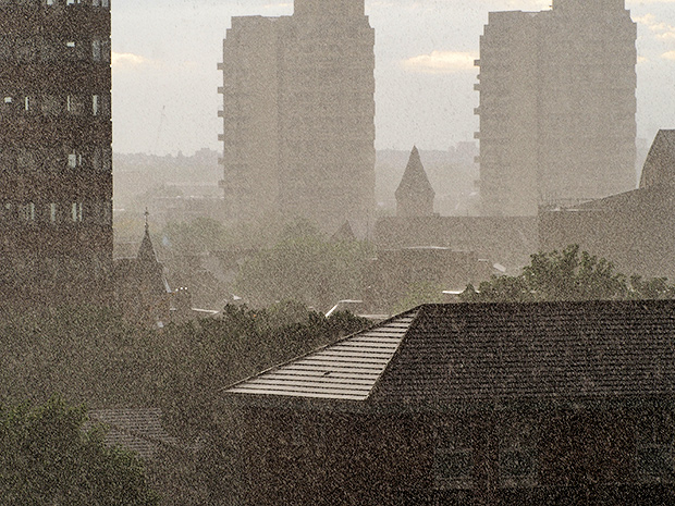 Blooming heck that was loud – Brixton hit by a swift hailstones
