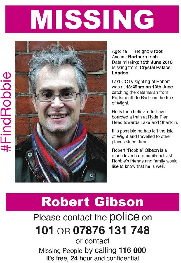 Missing library activist Robbie Gibson to feature on BBC 1's 'The One Show'