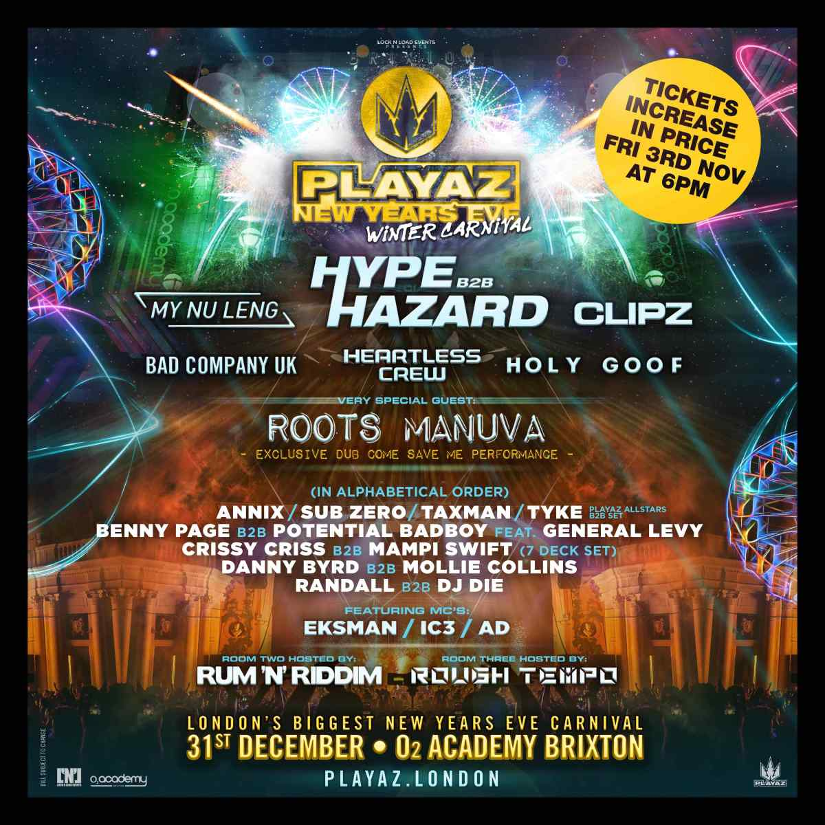 PLAYAZ NYE 2017   Brixton Buzz news, features and listings