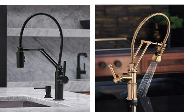 articulating kitchen faucet