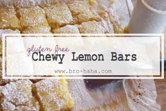 Gluten Free Chewy Lemon Bars