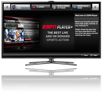 ESPN Player comes to Samsung, LG smart TVs