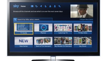 New look for Sky's on-screen TV guide