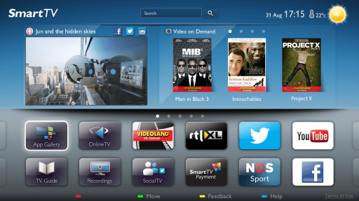 Philips smart TV screen