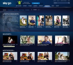 Sky Go Lifestyle Bereich