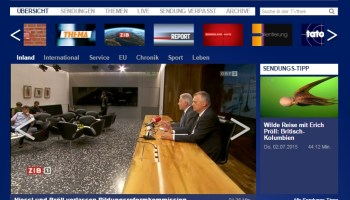 ORF-TVthek launches on HbbTV