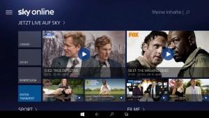 Sky Online Windows 10 Tablet_HOME