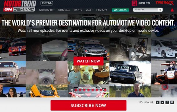 Motor Trend OnDemand - New SVOD Service Uses Kaltura OTT TV with front end from 3 Screen Solutions