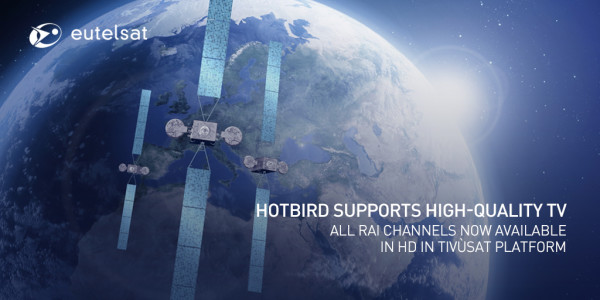 All Rai HD channels available on Tivùsat