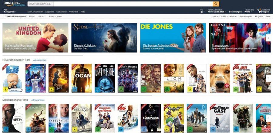 Filme Ins Amazon Konto