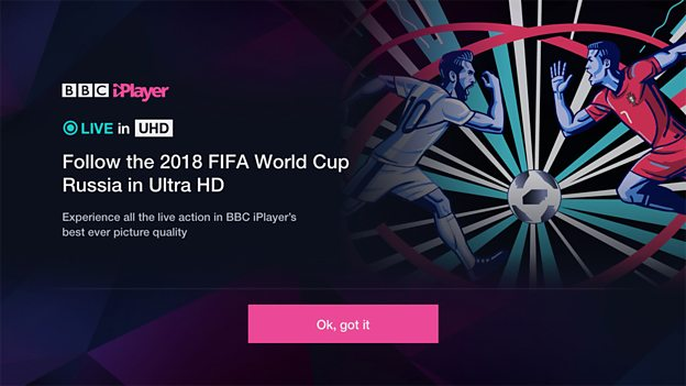 BBC 'to limit' World Cup Ultra HD