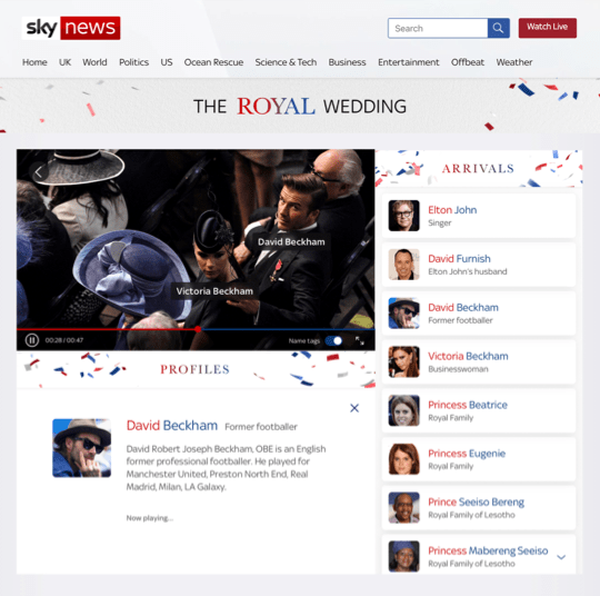 You can watch the Royal Wedding in 4K on Sky Q