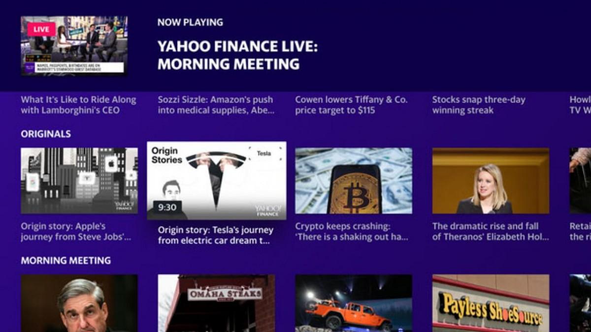 Yahoo Finance launches Apple TV app