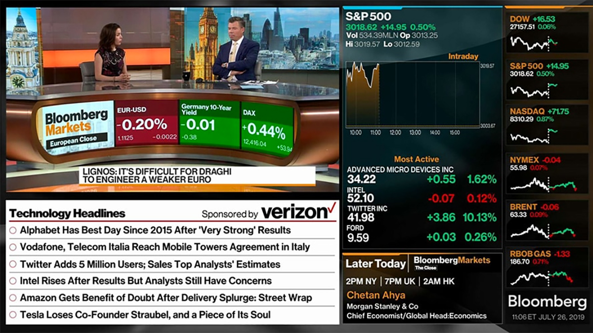 Bloomberg TV+ has become the first 4K UHD channel to launch on Samsung TV Plus