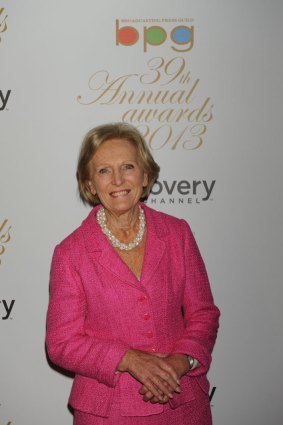 Mary Berry of Best Factual Entertainment show The Great British Bake Off