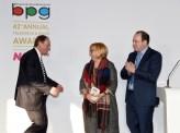 John Lloyd collects the Harvey Lee Award