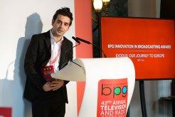 Ahmad al-Rashid, who featured in the documentary, Exodus, winner of the Innovation in Broadcasting Award
